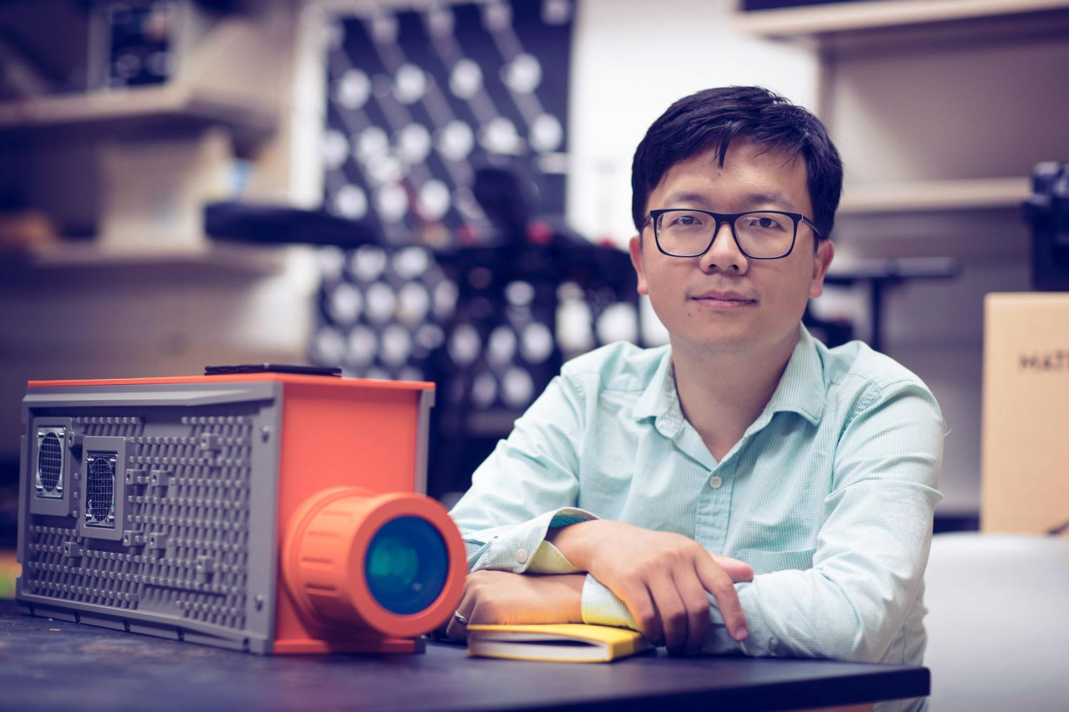 Xi Yang joined the environmental sciences faculty last year, specializing in vegetation/climate interactions. (Photo by Dan Addison, University Communications)