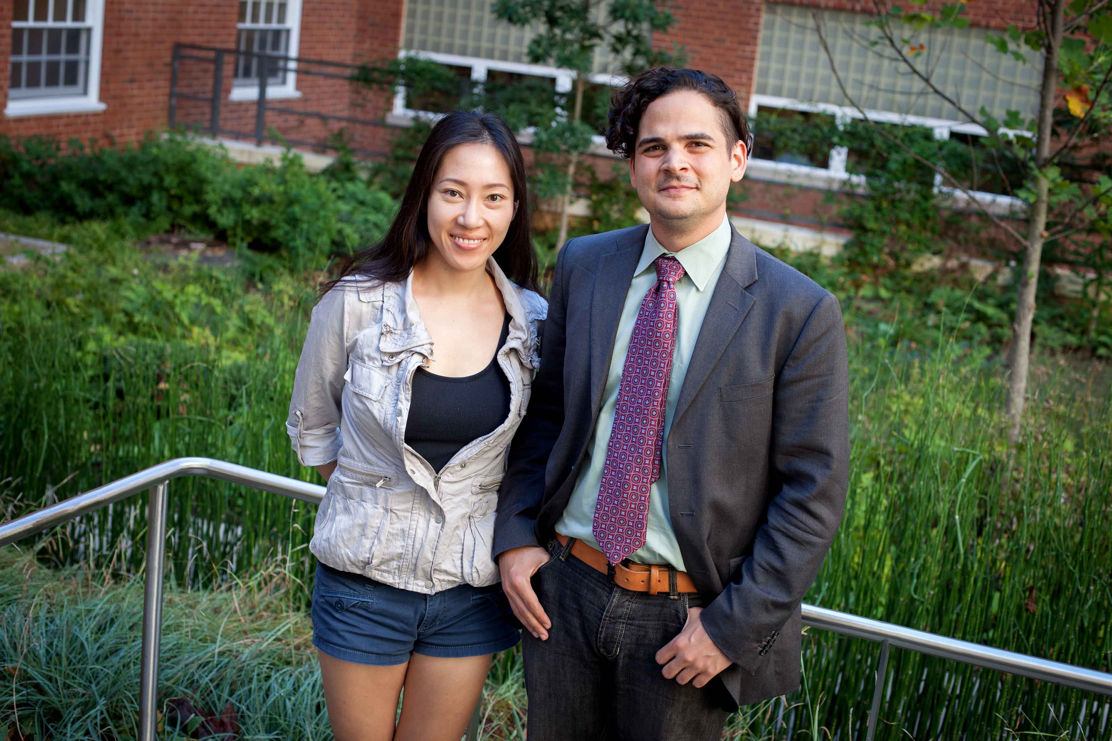 Bommae Kim, Ph.D. candidate in psychology, and James Ascher, Ph.D. candidate in English.