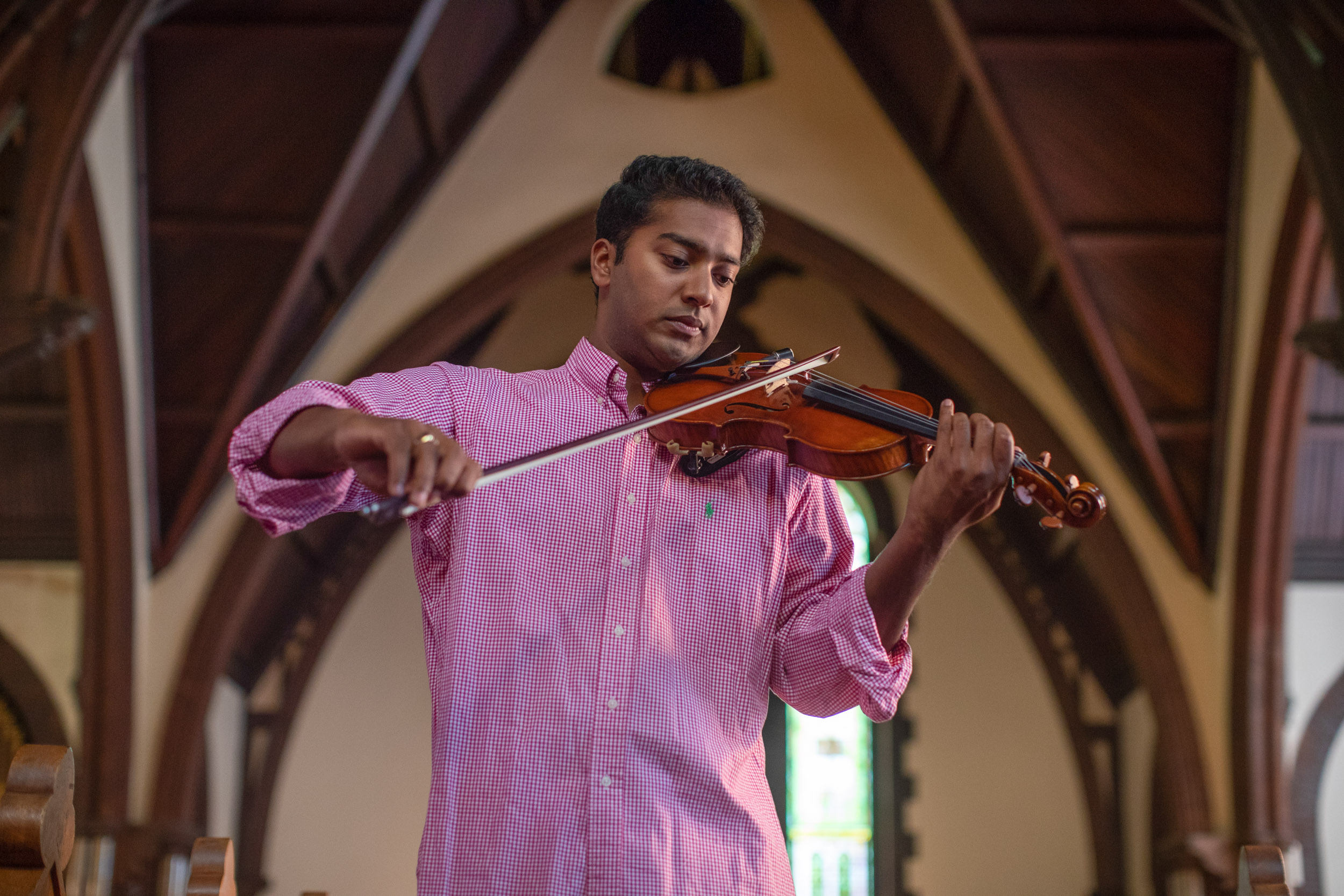 """Earlier this spring, Samuel's sonorous performance of """"Ashokan Farewell,"""" the theme music from Ken Burns' popular documentary series """"The Civil War,"""" filled the sanctuary of UVA's Chapel."""