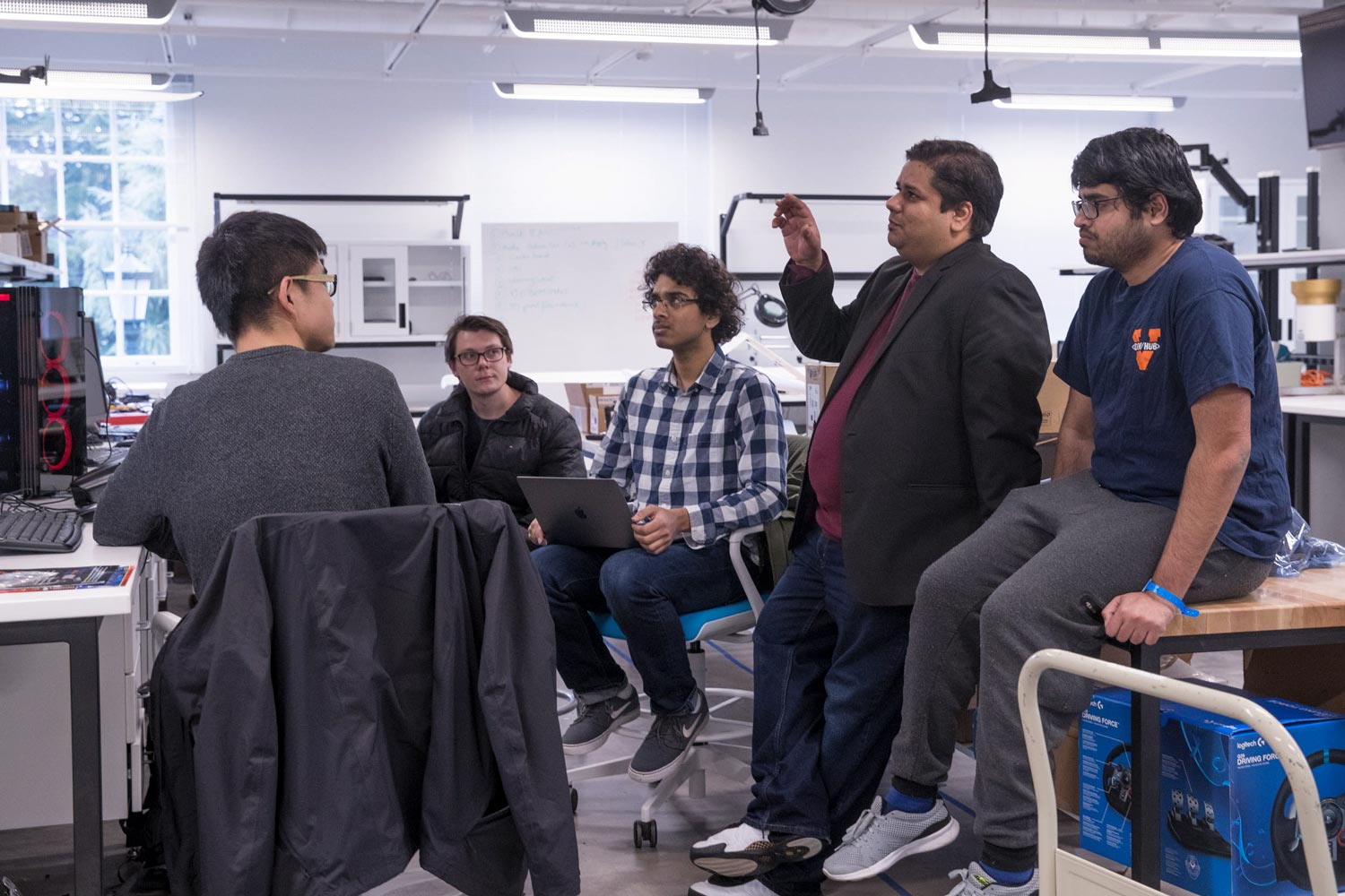 Behl is leading students in the design of control systems for safe, self-driving cars of the near-future.