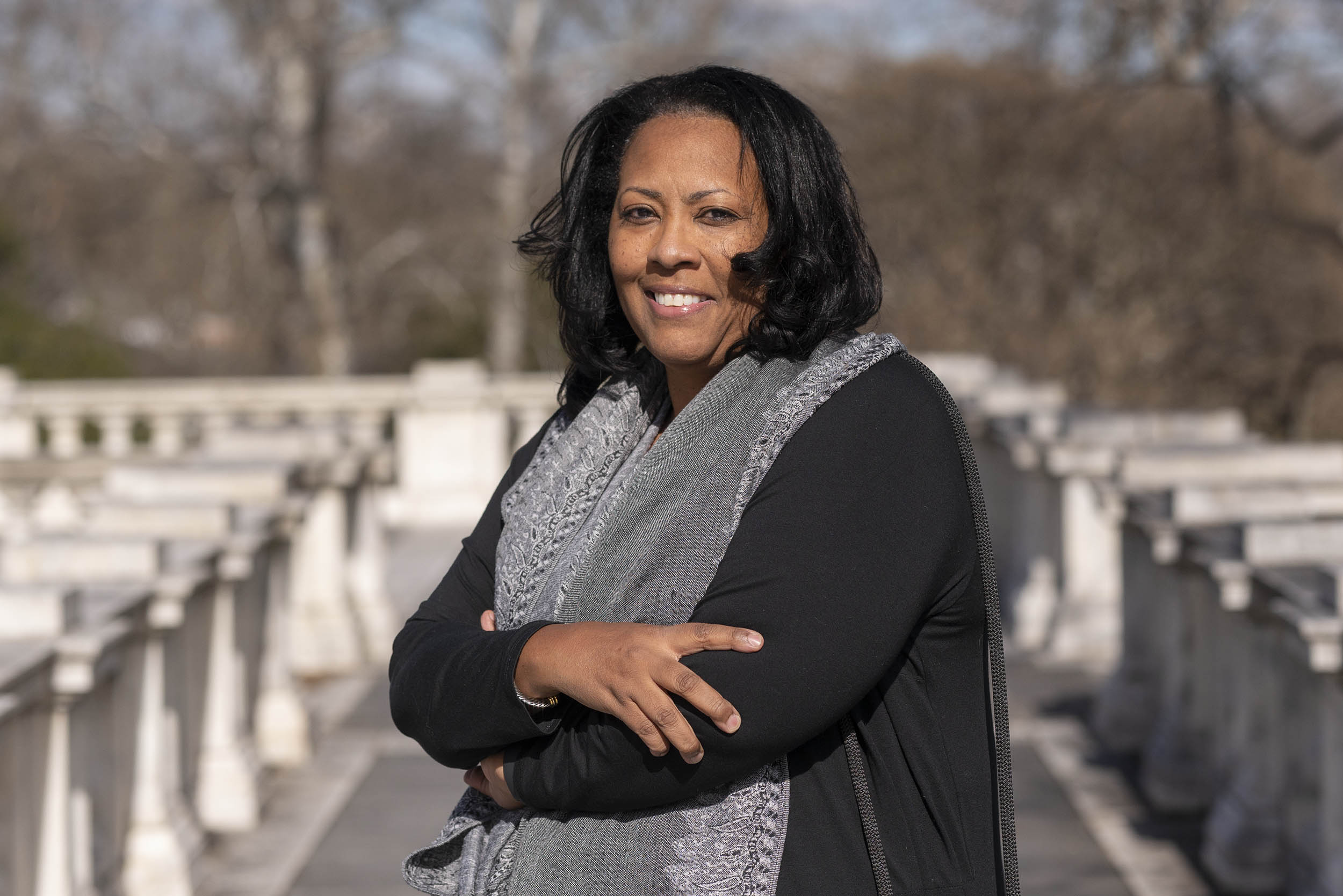 Benita Mayo plans to develop a documentary photo series addressing the health disparities African American women face during pregnancy and birth. (Photo by Sanjay Suchak, University Communications)