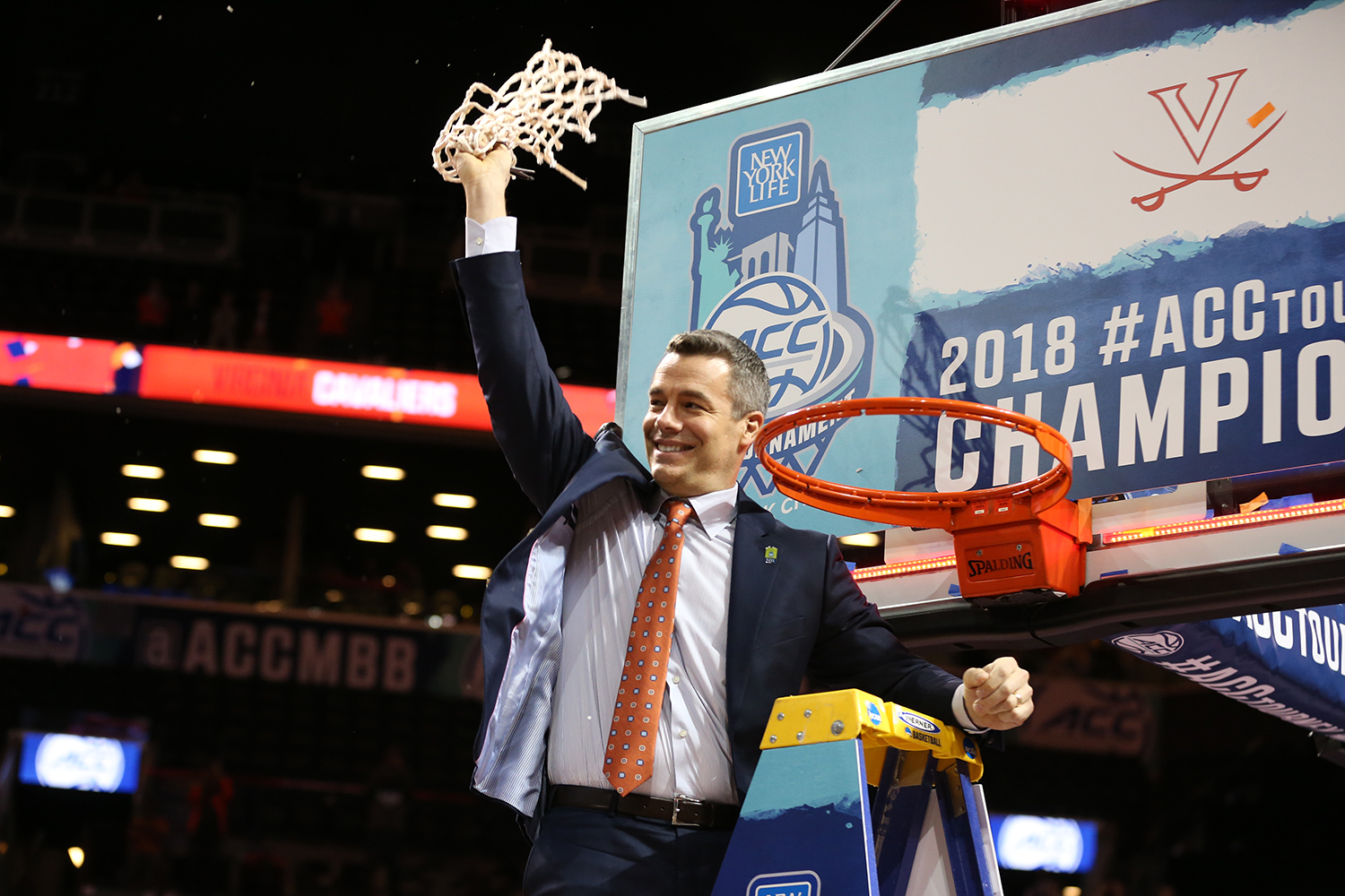 Tony Bennett, honored last week as the Henry Iba National Coach of the Year, led UVA to a NCAA No. 1 seed for the third time in five years. (Photo by Matt Riley, UVA Athletics)