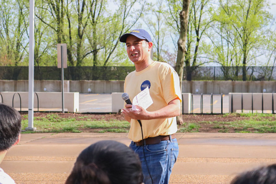 """Tim Freilich, who became Madison House's executive director in 2015, was once a student volunteer there and was recognized as """"Alum of the Year"""" in 2005 for his public service work."""