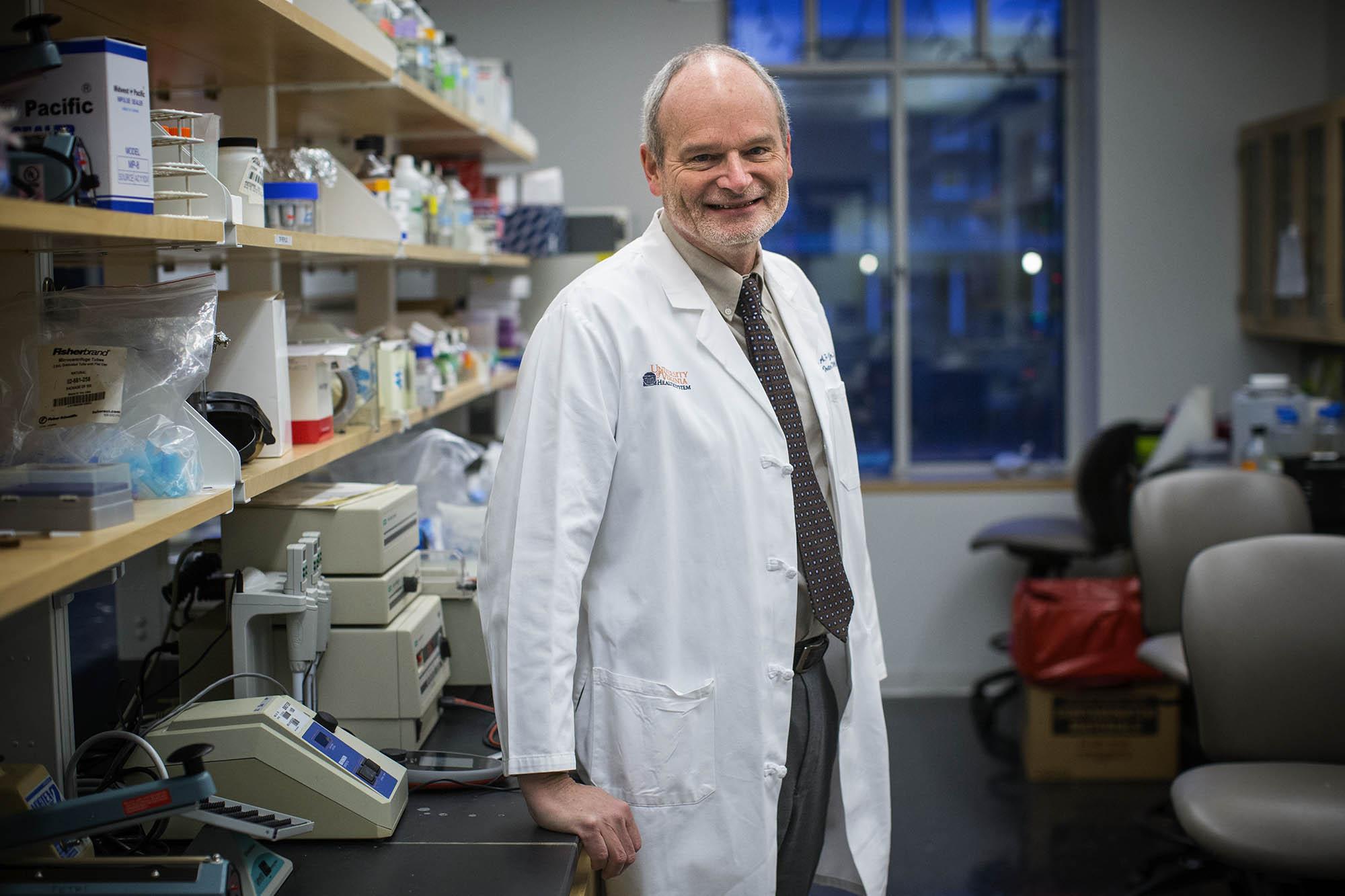 Dr. William Petri is the Wade Hampton Frost Professor of Medicine. (Photo by Sanjay Suchak, University Communications)