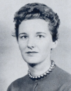 This is a yearbook picture of Janet Lauck Blakeman, then Janet Lauck, as a student in the School of Law (Photo courtesy of the School of Law)