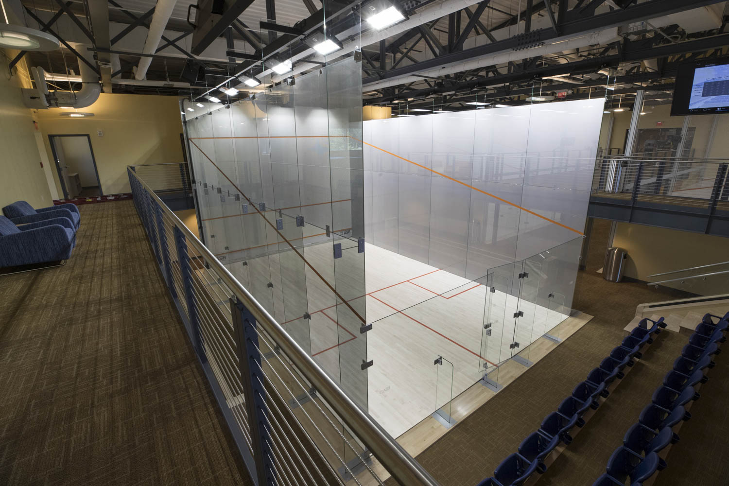 "There are only a handful of glass-encased ""show"" courts in the world. The Boar's Head Sports Club now has two of them."
