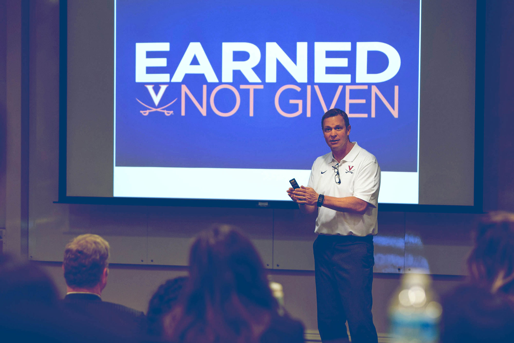 Mendenhall said that his UVA players are buying into his approach, despite its rigorous mental and physical demands.