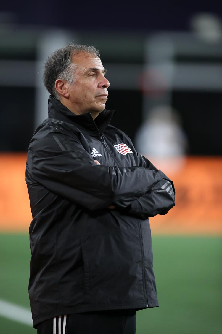 Soccer coach Bruce Arena at Vancouver Whitecaps game on August 17, 2019.
