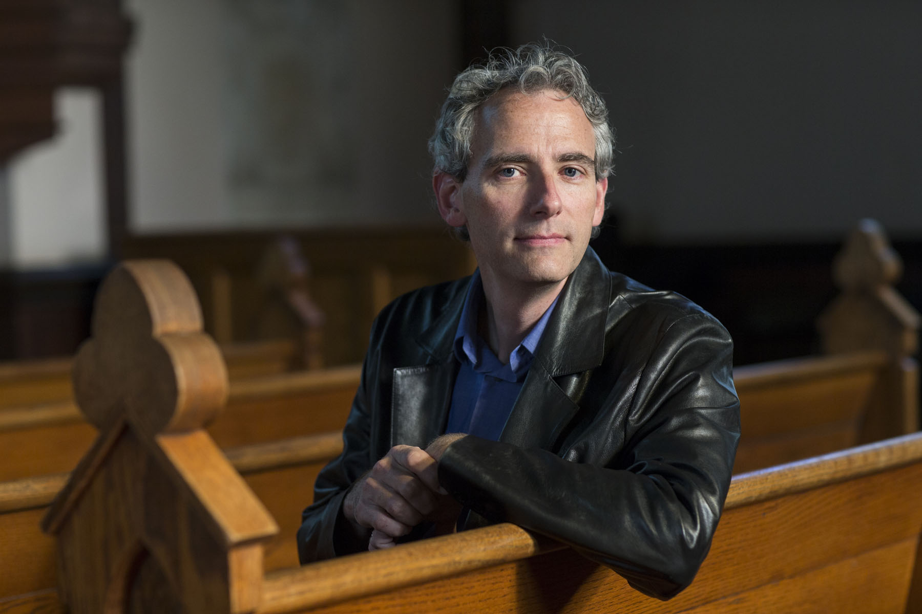 Bruce Holsinger, a medieval scholar in the English department, began writing historical fiction several years ago. (Photo by Dan Addison, University Communications)