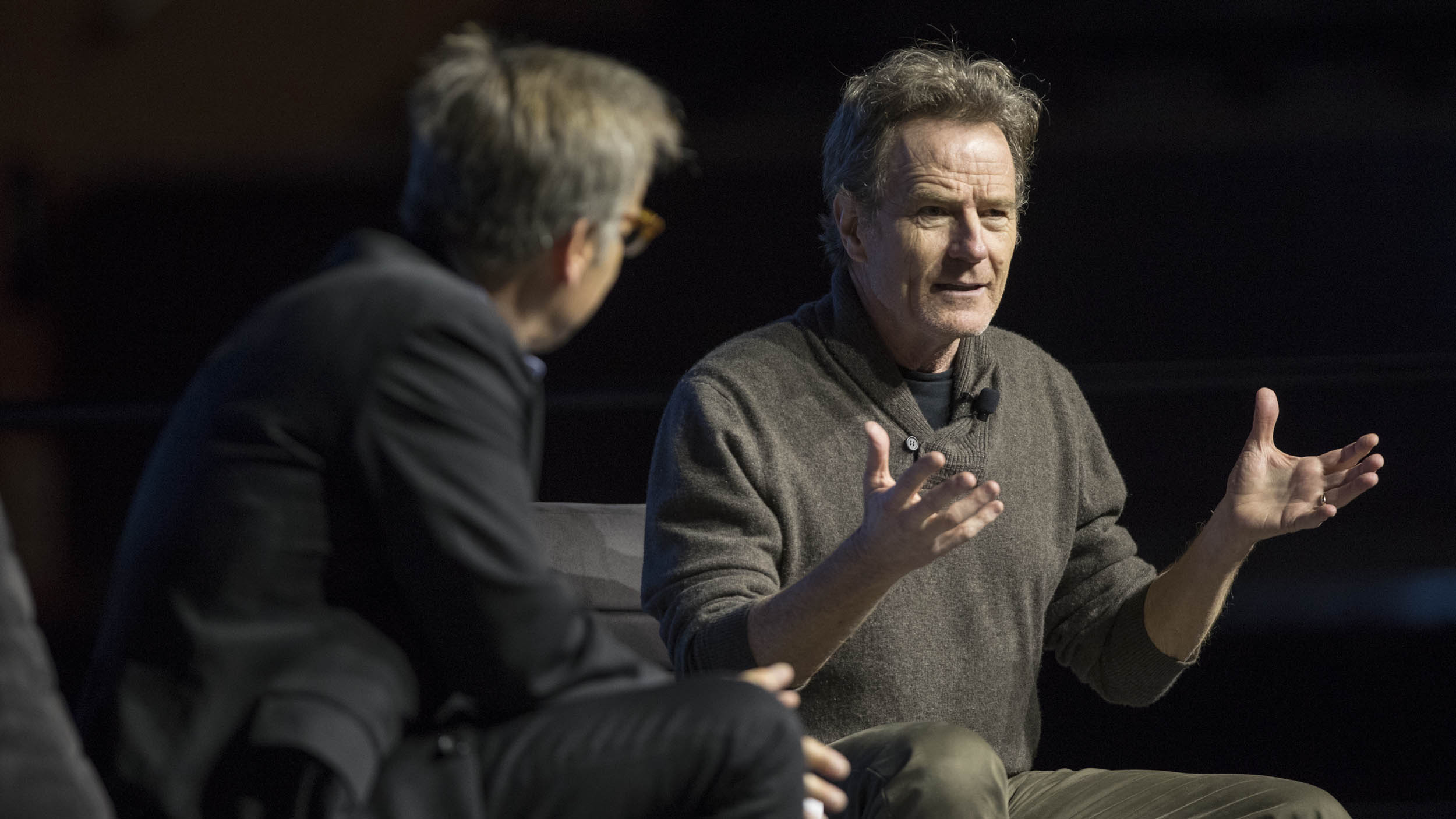 Ultimately, Cranston did exactly what he advised his audience to do; he told a great story. (Photo by Sanjay Suchak, University Communications)