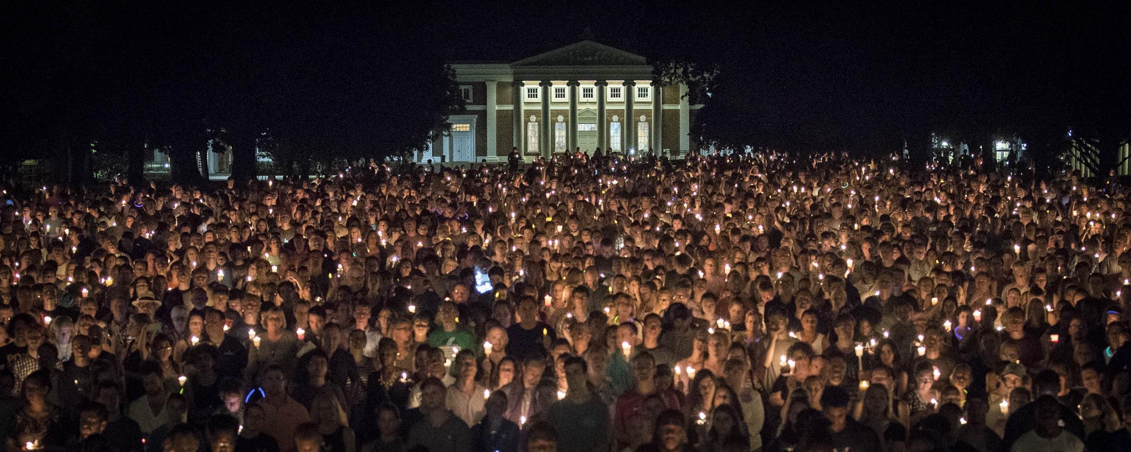 Thousands attended the vigil. (Photo by Sanjay Suchak, University Communications)