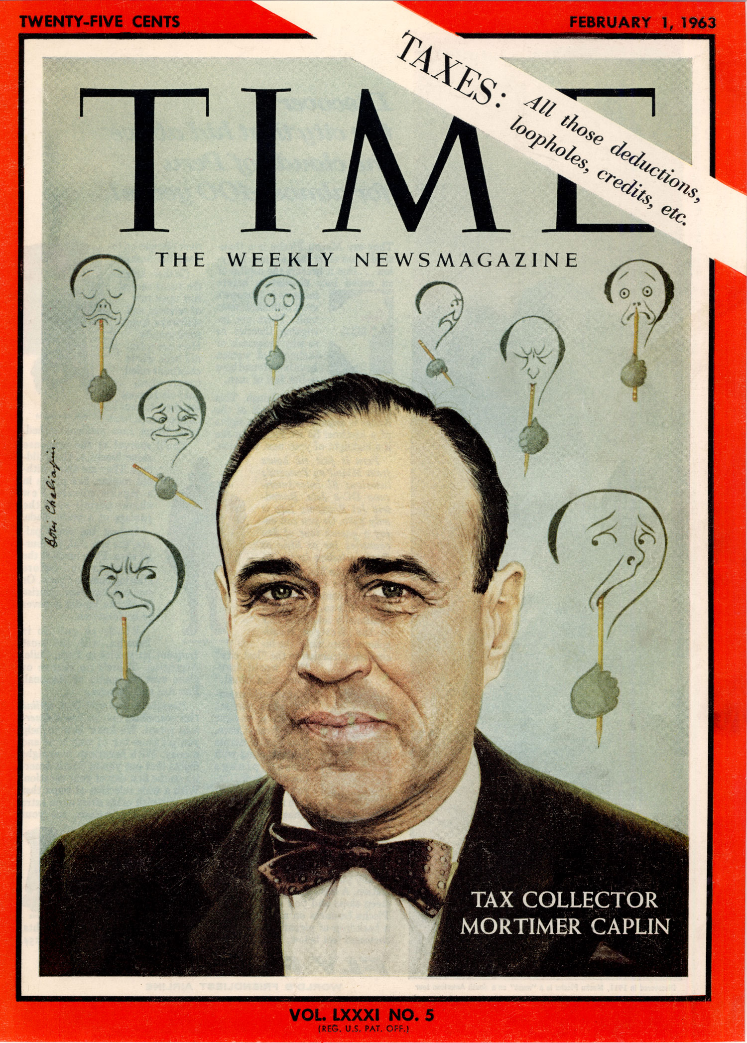 Caplin is the only IRS commissioner to appear on the cover of Time magazine.