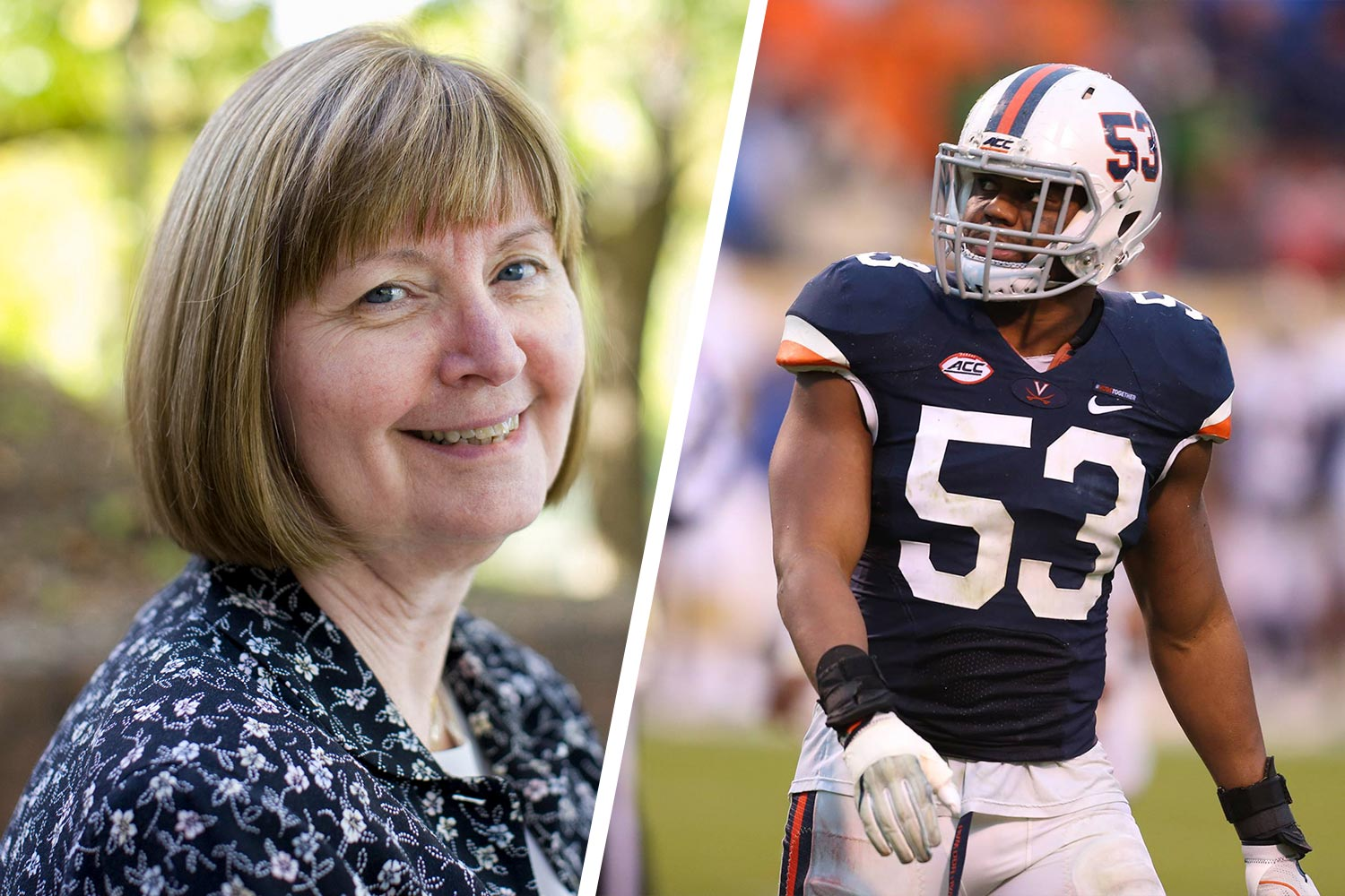 The National Football Foundation is honoring both Carolyn Callahan, UVA's longtime faculty athletics representative, and Cavalier linebacker Micah Kiser.