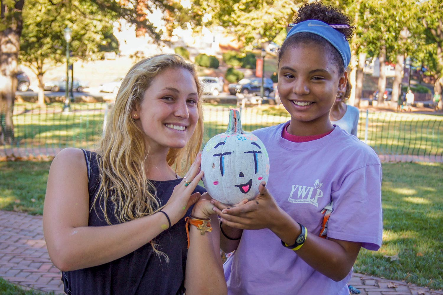 Mentor Cate Elcan is pictured this year with her little sister Keysiah Brandon, a seventh-grade student at Burford Middle School.