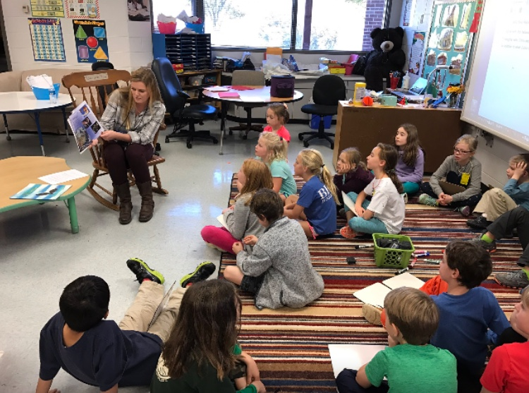 In 2016, Catherine Vermillion student-taught a class of second- and third-graders at Meriwether Lewis Elementary School in Albemarle County. (Photo courtesy of Catherine Vermillion)
