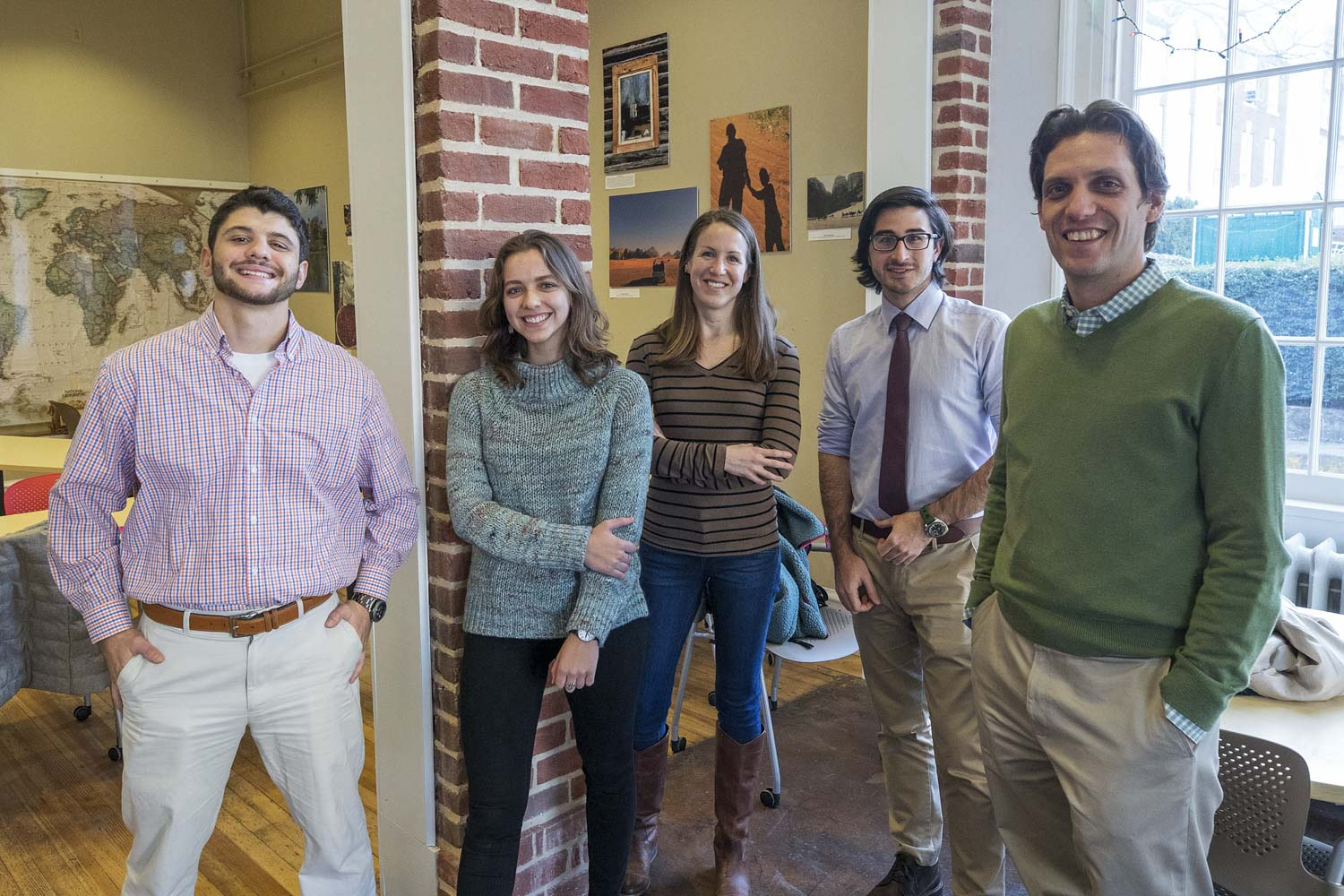 Dr. Scott Heysell, far right, and some of the members of his research team: from left, medical student Herman Pfaeffle, undergraduate student Alena Titova, Dr. Megan Gray and medical student Art Kulatti.