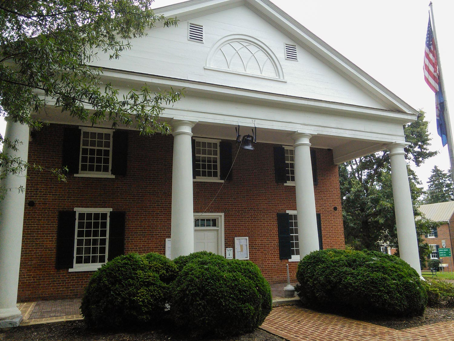 The Charlotte County courthouse is one of three courthouses Jefferson designed in Virginia.