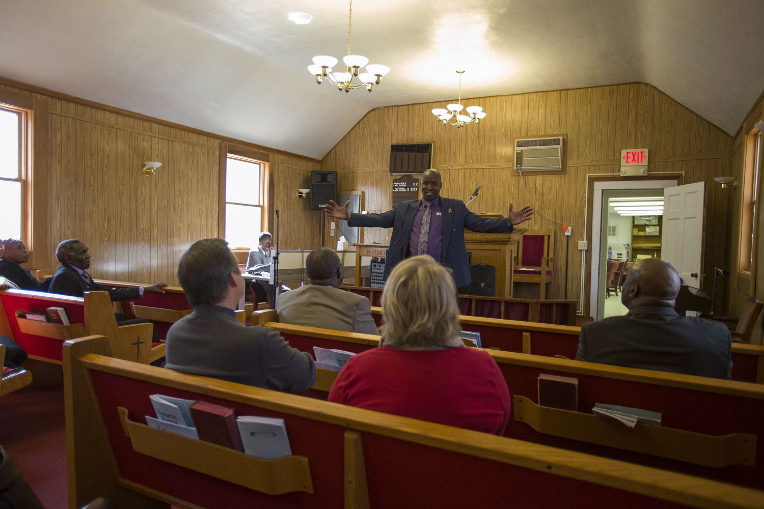 Chege preaches at Lighthouse Baptist Church in Barboursville. His call to the ministry began in Africa, where he was the first to be baptized in a font that he built.