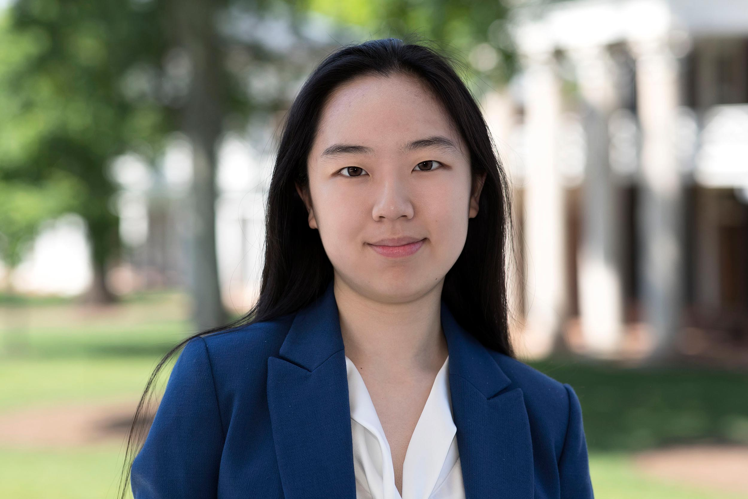 Chelsea Li's research fits into a busy schedule that also includes serving as a volunteer firefighter and EMT, doing science outreach at local elementary schools and serving as vice chair on UVA's Diversity Engagement Committee.