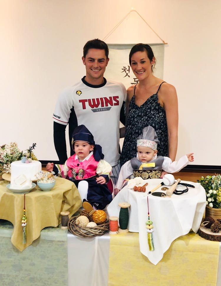 Chelsea Wilson, and her husband, Tyler, spend several months of the year in Korea with their twin sons, Brady and Max.