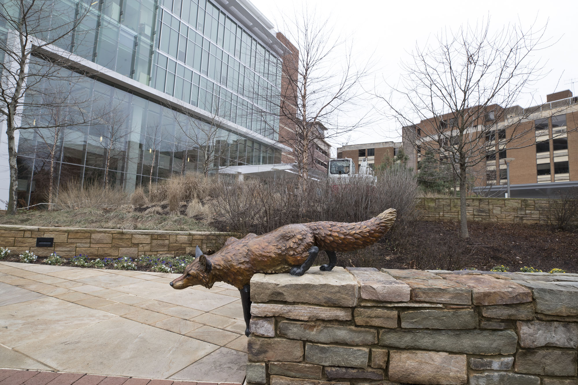 David Turner's fox sculpture was the second added to the plaza.