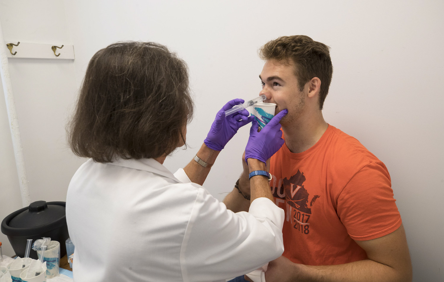 For $1,200, second-year student Jonathon Rimmington will be infected twice with rhinovirus, a cause of the common cold, and check in periodically so researchers can study his immune response.