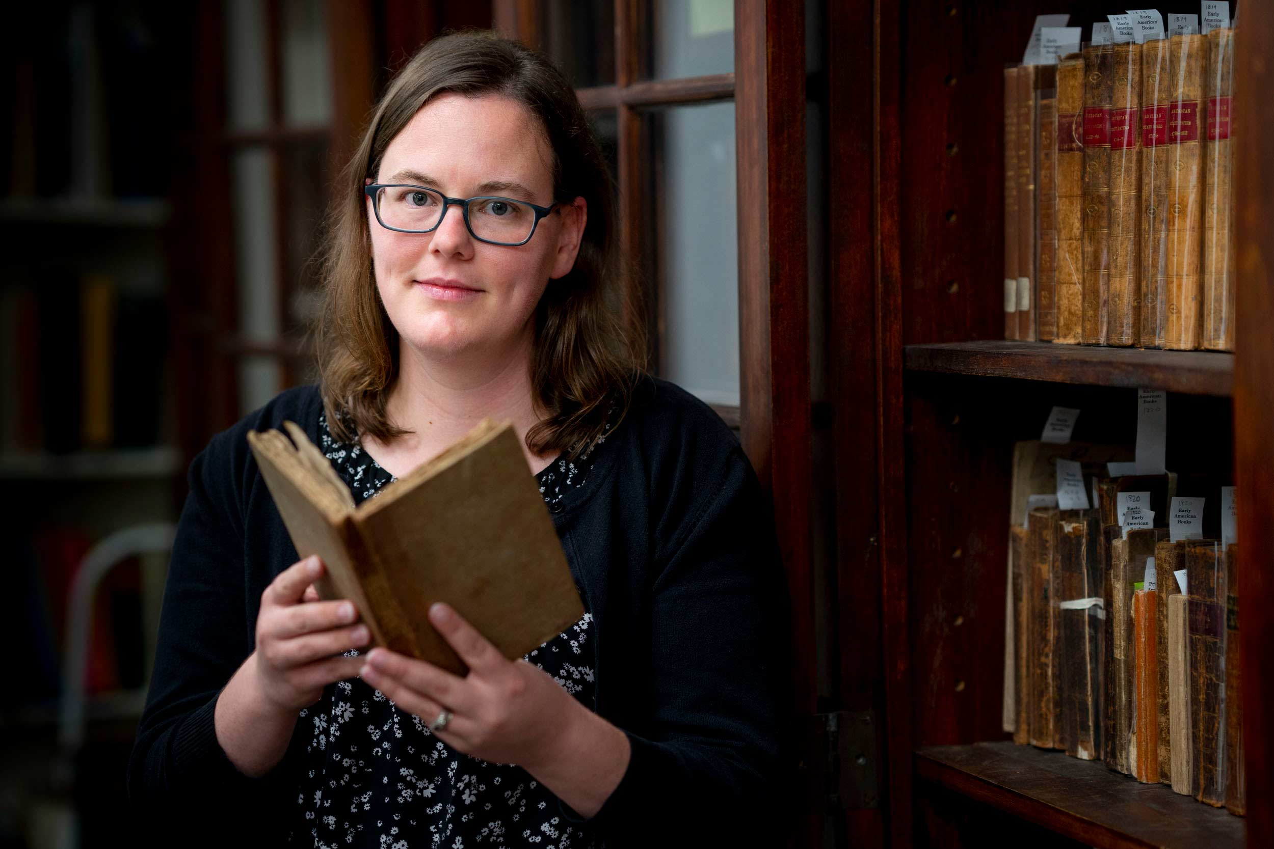 Librarian Collene Barret lived in a room on the Lawn while she was at UVA for a class in the Rare Book School.
