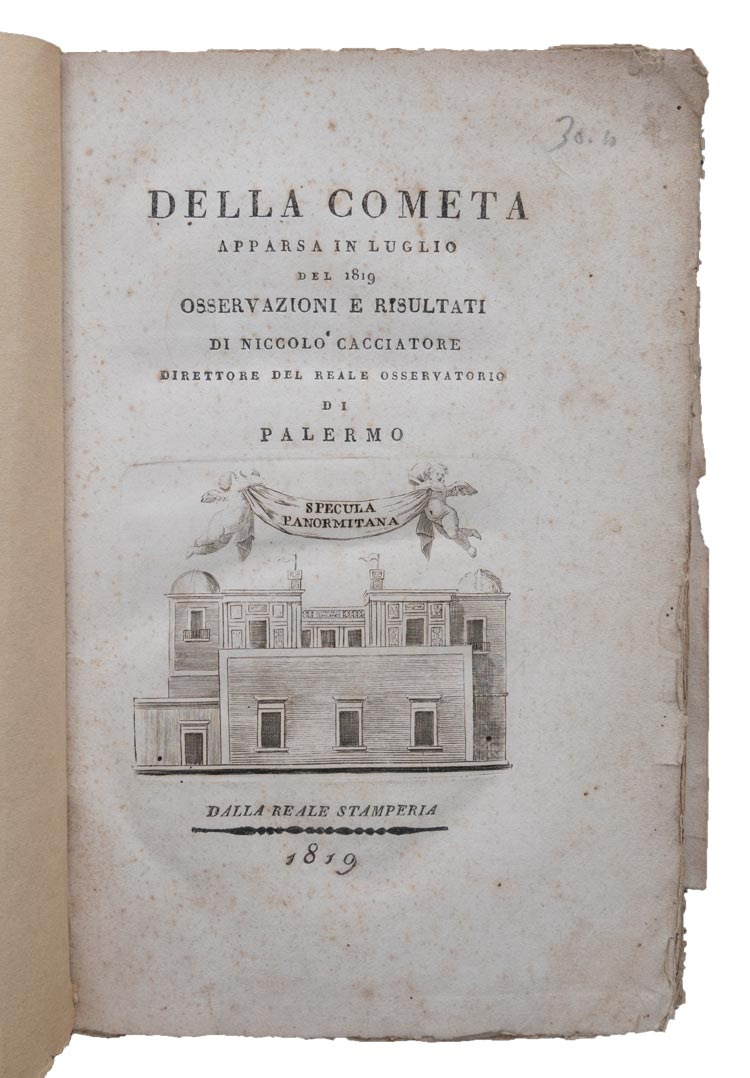"This slim volume focuses on the Great Comet of 1819, as seen from the Royal Observatory of Palermo, which had ""an important (if under-recognized) place in the history of astronomy,"" Lemley said."