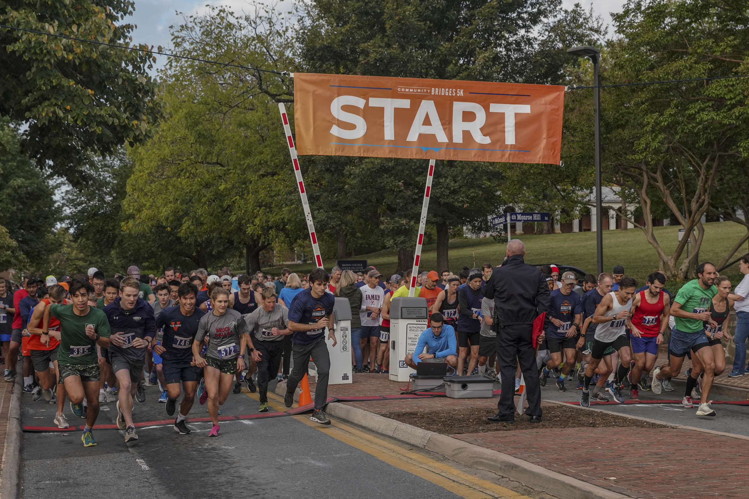 The Community Bridges 5K got off to a fast start early Saturday morning on McCormick Road.