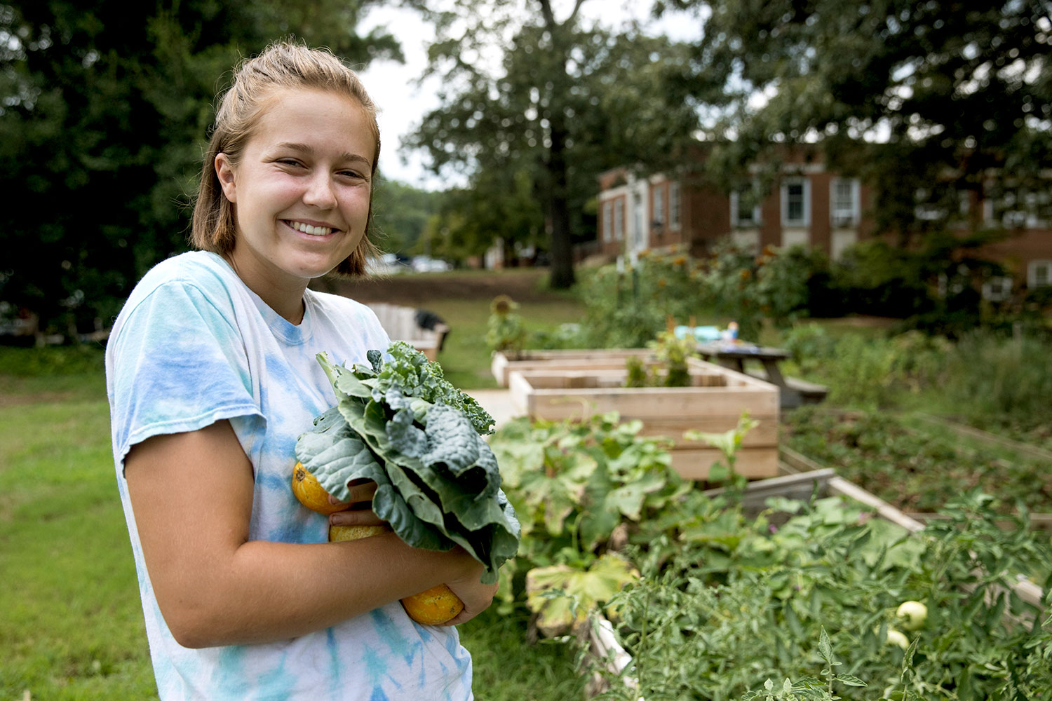 Watt says that once she discovered the community garden, it quickly became one of her favorite spots on Grounds.