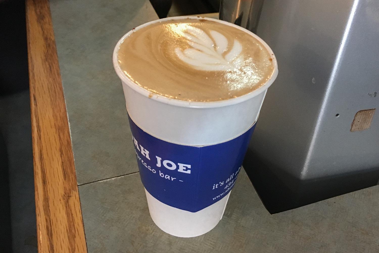 The lattes at Corner Joe really hit the spot.