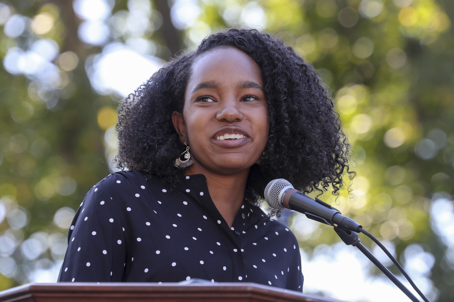 """Bryanna Miller, student representative on the Board of Visitors, said UVA needs """"the courage to face the future."""""""