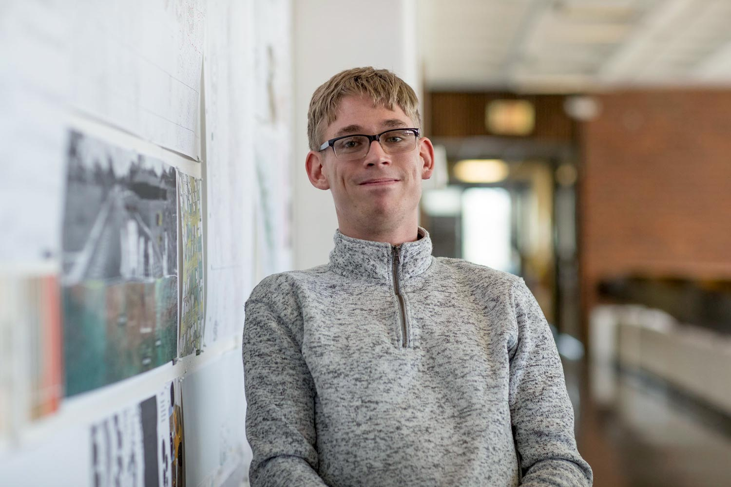 Cory Paradis earned his architecture degree last year, devoting much of his studies to issues surrounding the Americans With Disabilities Act and concerns around accessibility.