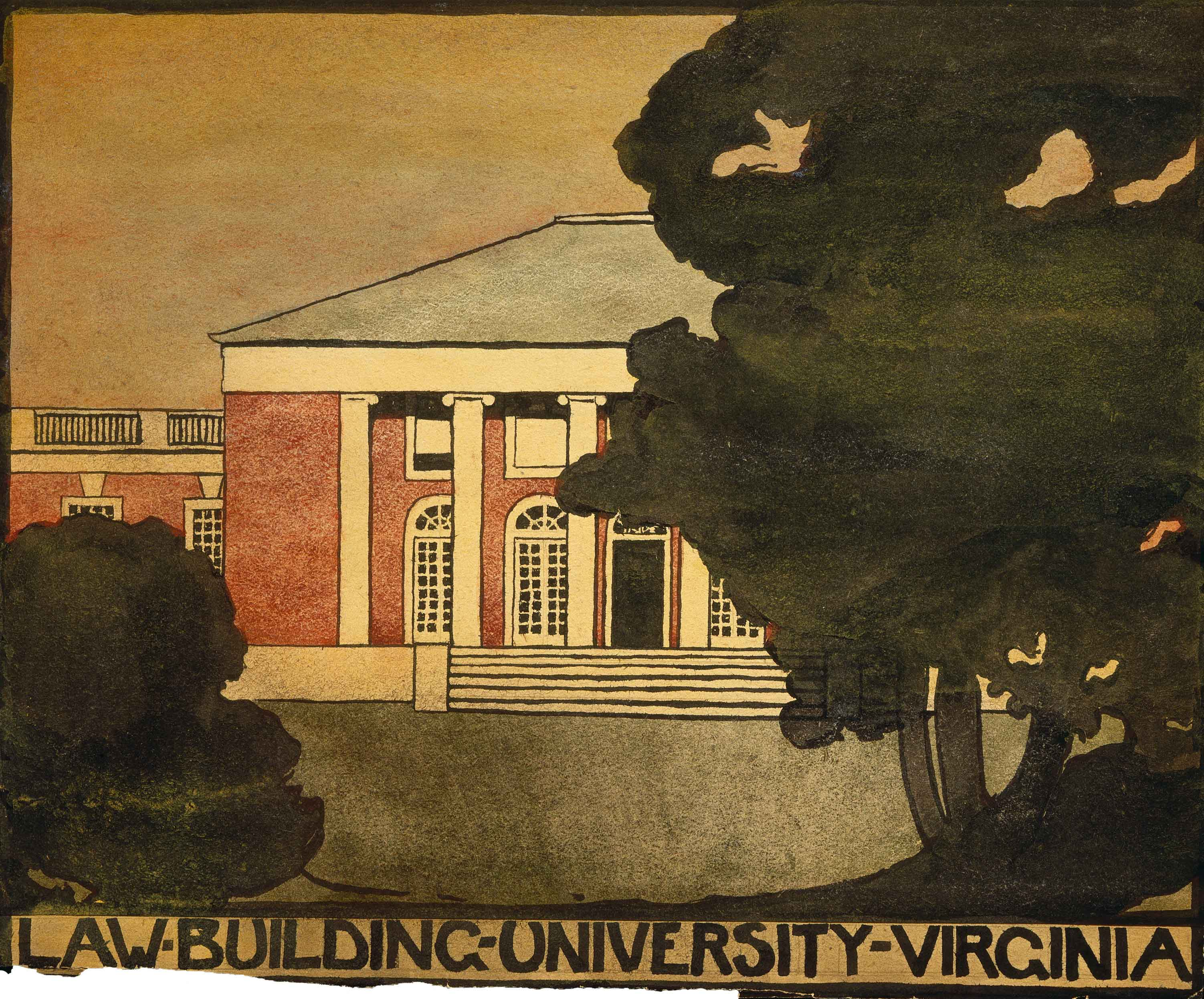 Untitled (Law Building - University of Virginia), 1912-1914, Georgia O'Keeffe, Watercolor on paper