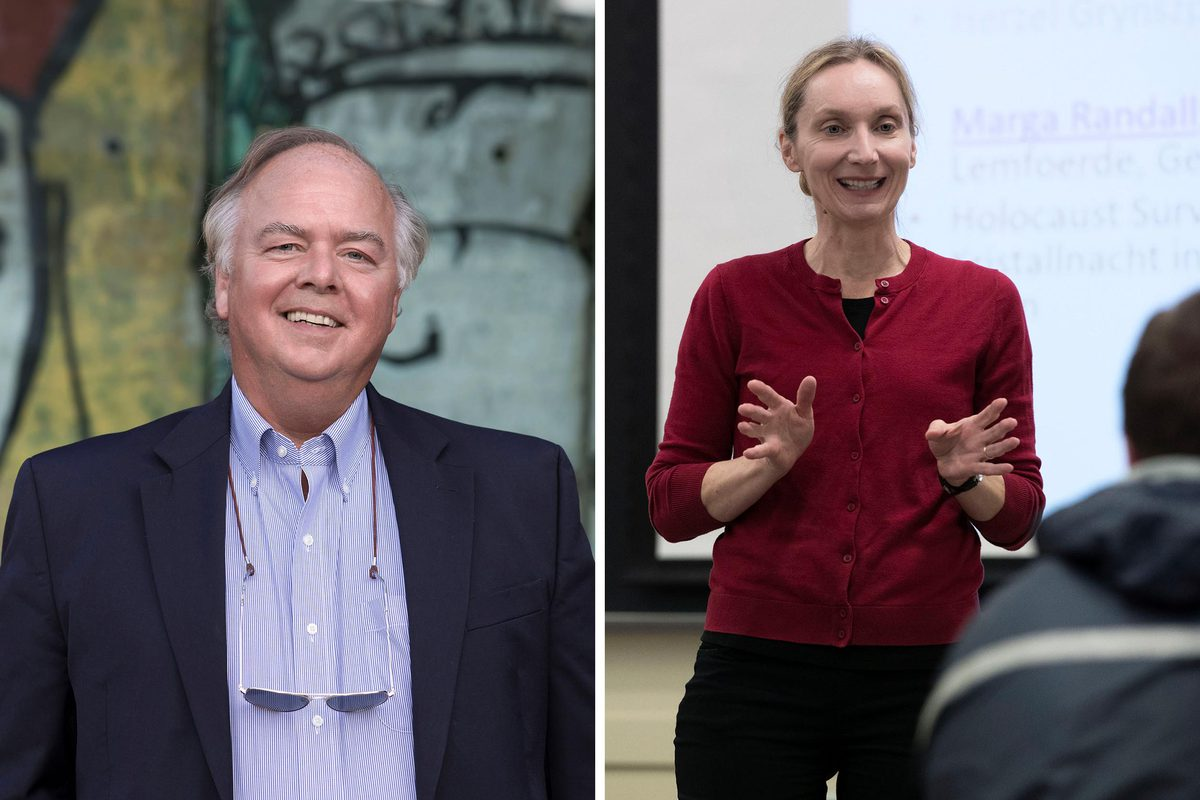Craig Shirley is a biographer of Ronald Reagan and an instructor at UVA's Frank Batten School of Leadership and Public Policy. Manuela Achilles is a UVA professor of German and history.