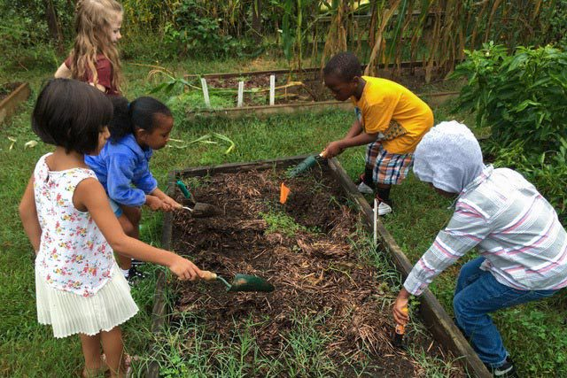 Students come together to garden, grow food and learn leadership skills.