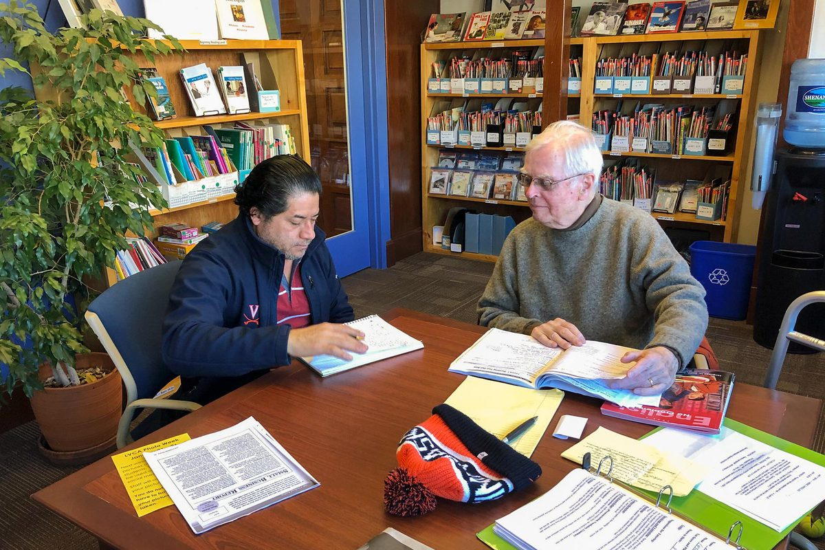 Trained volunteer tutors work one-on-one with students.