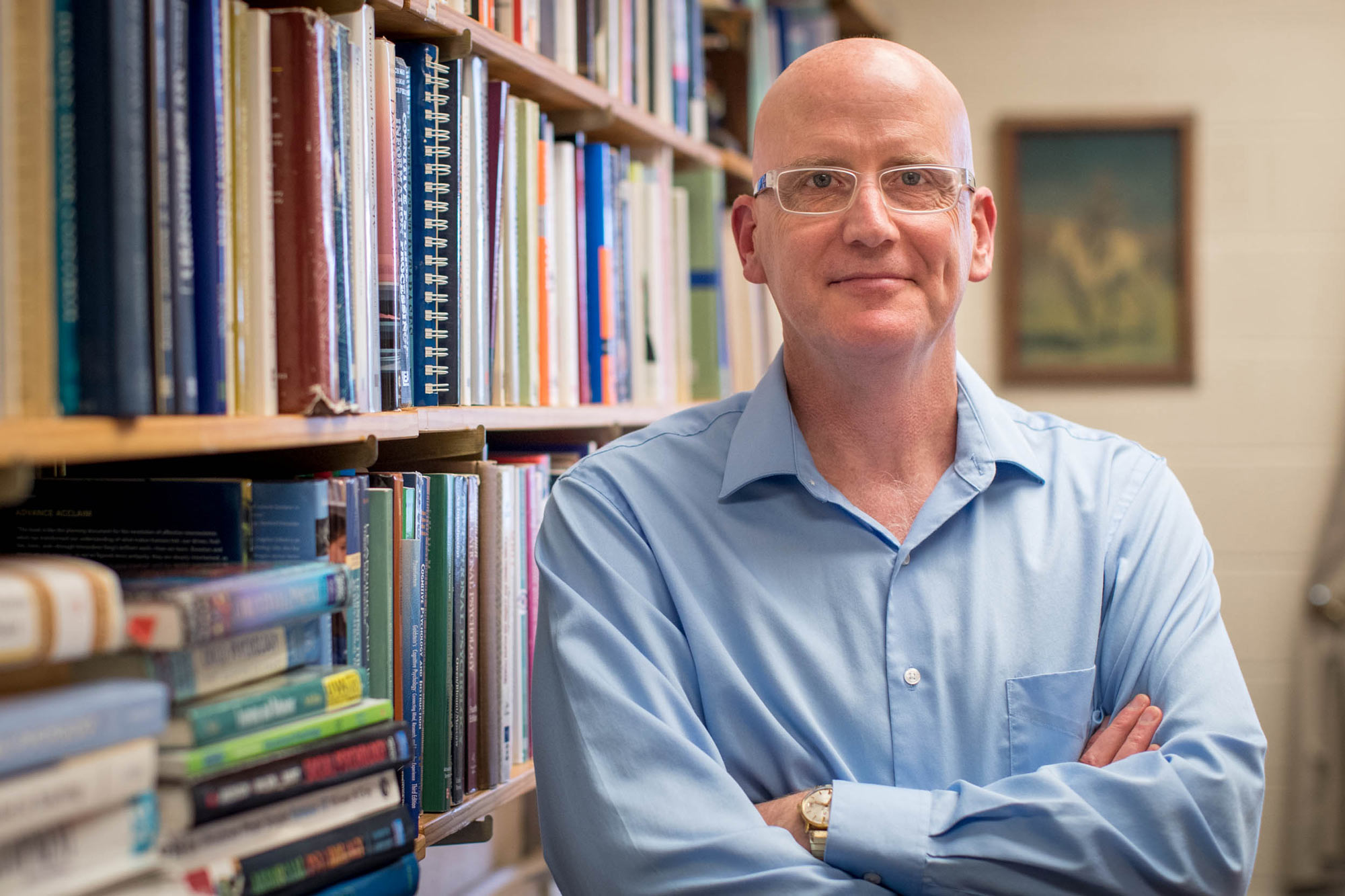 """Daniel Willingham's other books include """"Raising Kids Who Read"""" and """"Why Don't Students Like School?"""" (Photo by Sanjay Suchak, University Communications)"""