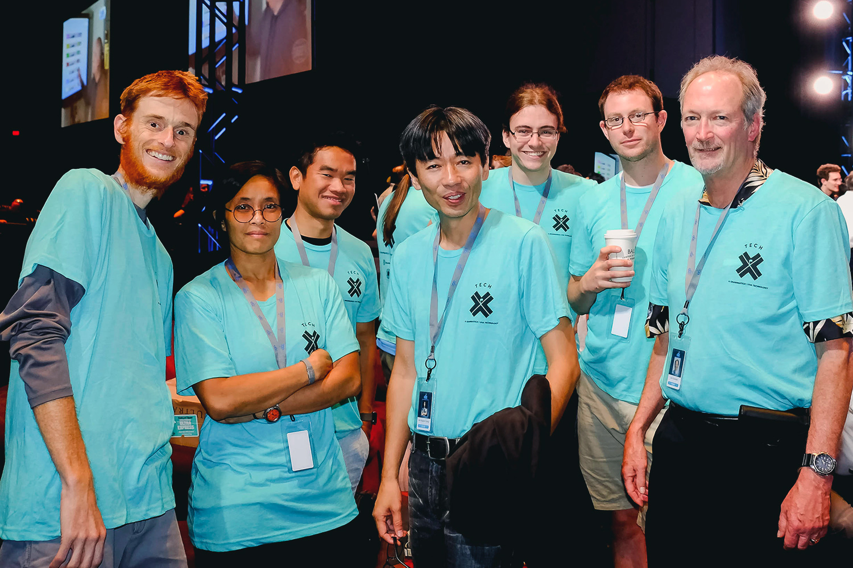 From left, Will Hawkins, Michele Co, Ducson Nguyen (GrammaTech), Ahn Nguyen, Derrick Morris, Eric Rizzi (GrammaTech), Professor Jack Davidson