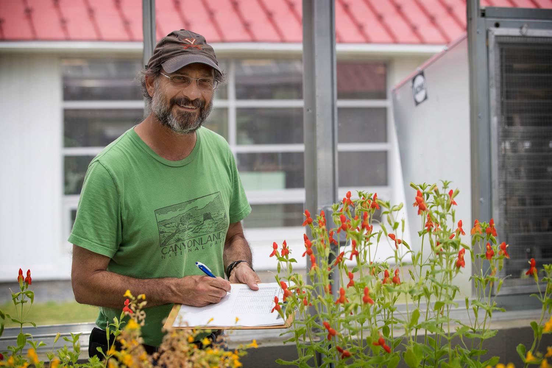 Environmental scientist David Carr directs Blandy Experimental Farm.