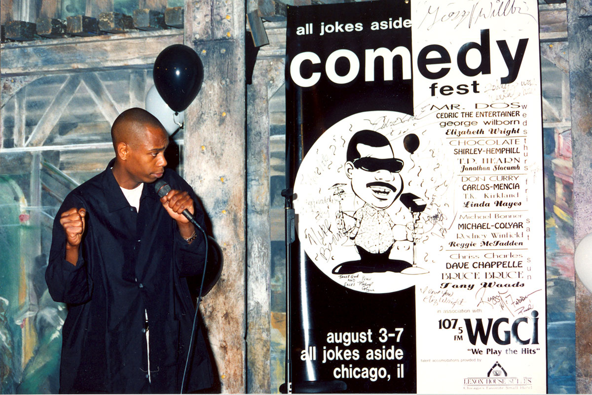 A young Dave Chappelle performs at Lambert's club.