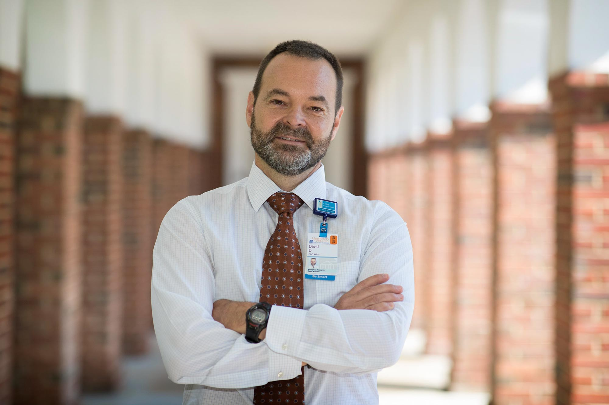 David L. Driscoll, the assistant dean of research and the director of the Office of Research at the UVA School of Medicine, is leading the Virginia Higher Education Opioid Consortium. (Photo by Dan Addison, University Communications)