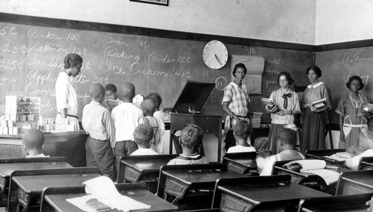 African-American students in an unidentified Virginia school from the first half of the 20th century, in a photo taken by educator Jackson Davis.