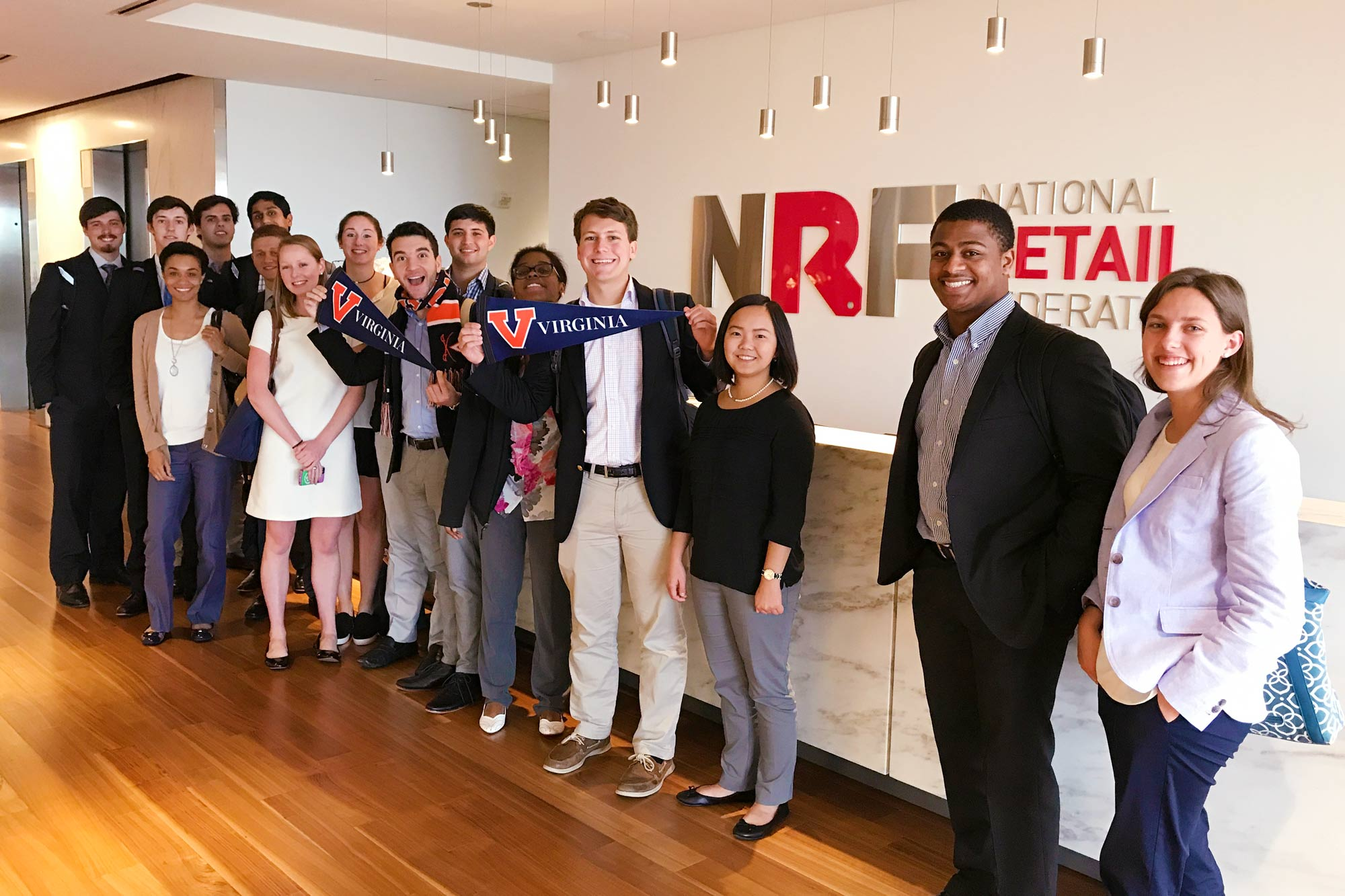 Students enrolled in the UVA Career Center's weeklong UVA D.C. Business Lab learned some business fundamentals, visited businesses and met with D.C.-area alumni last week. (Contributed photo)