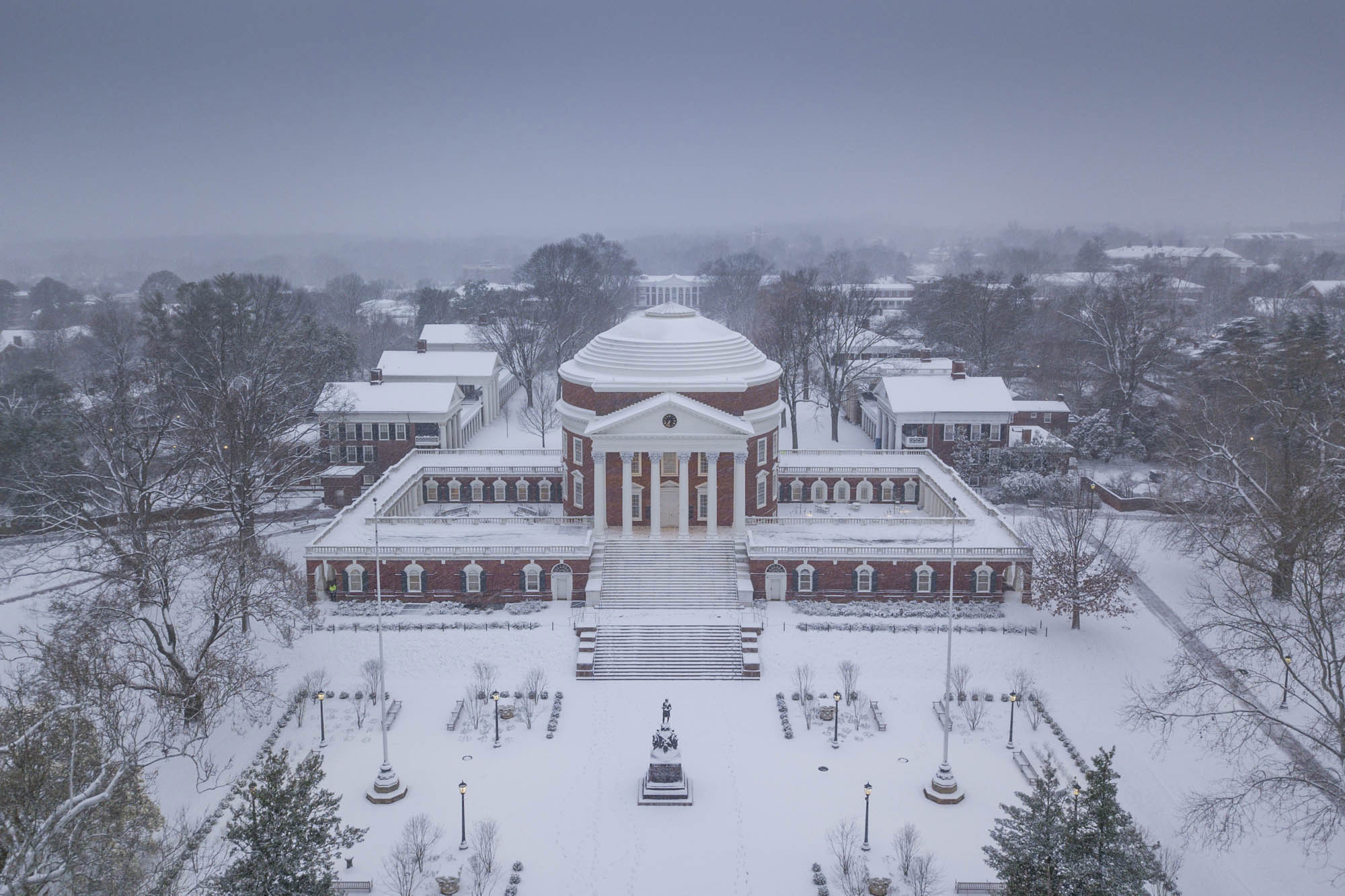 the rotunda in snow