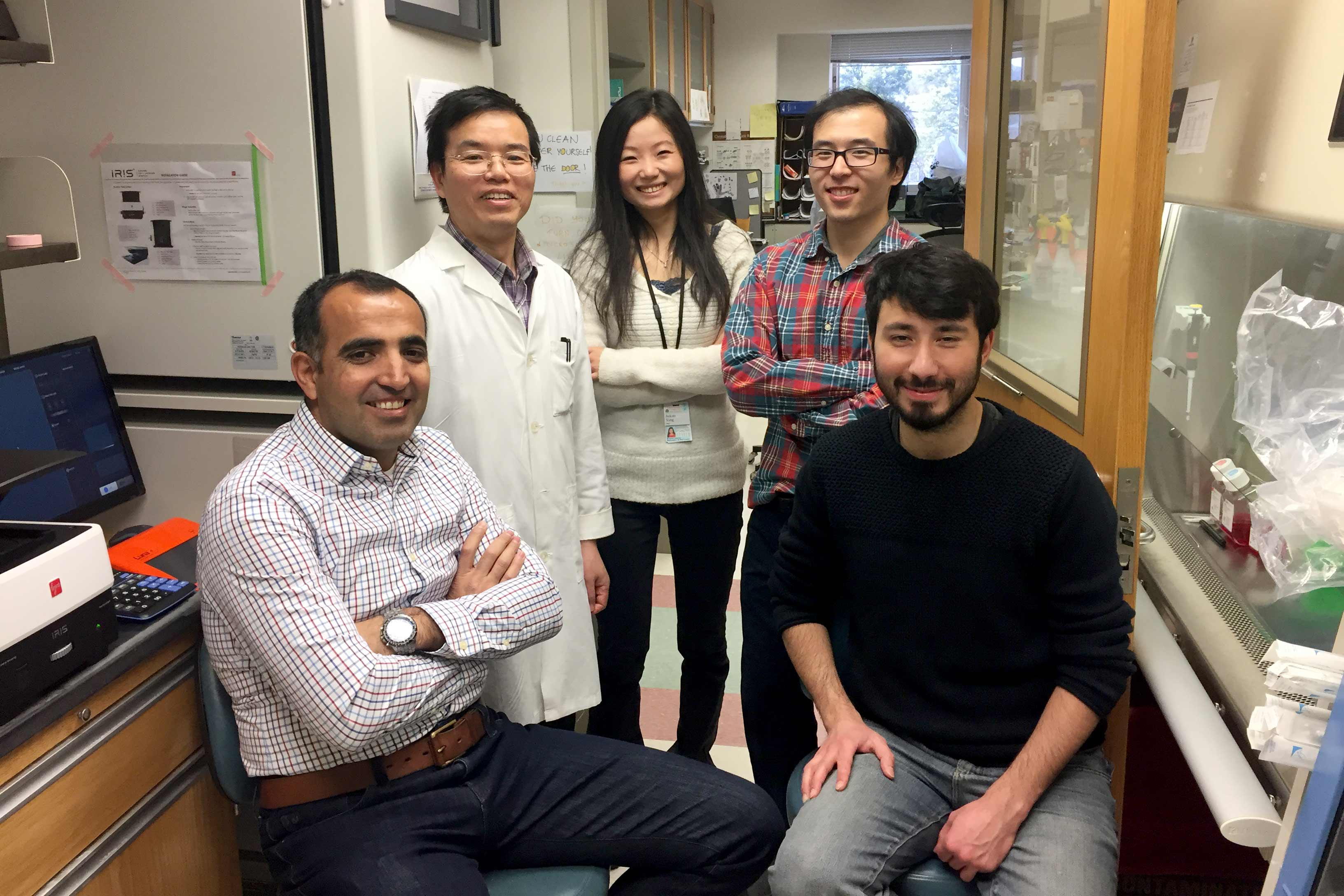 From left to right, the lab's team includes Mazhar Adli, Tom Wei, Jackie Yang, Stephen Shang and Turan Tufan.