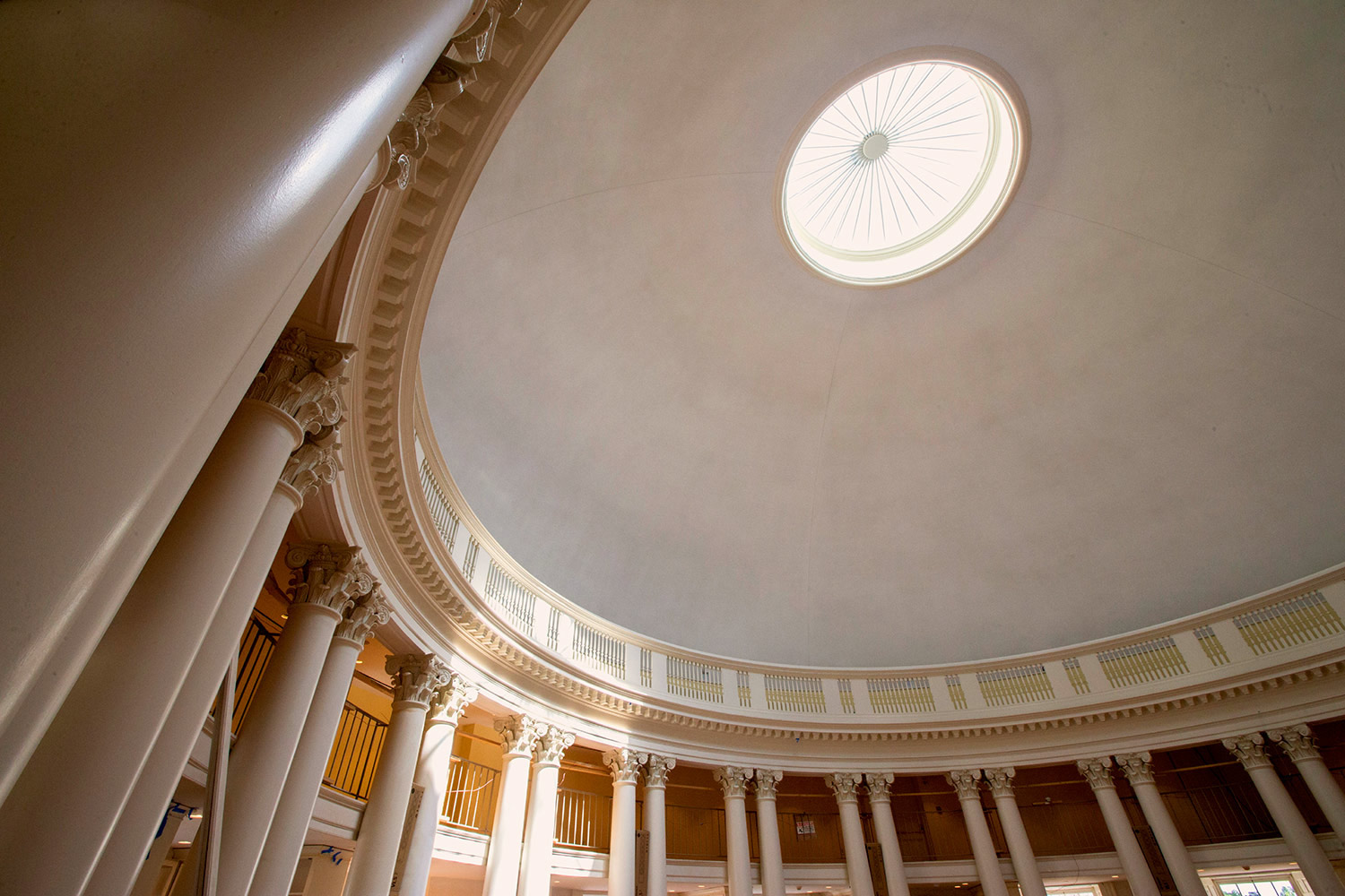 The interior of the Dome Room on Friday morning. (Photos by Dan Addison, University Communications)
