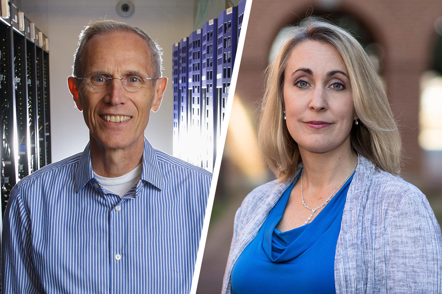 Don Brown, left, and Micah Mazurek are using data science to unlock the mysteries of autism.