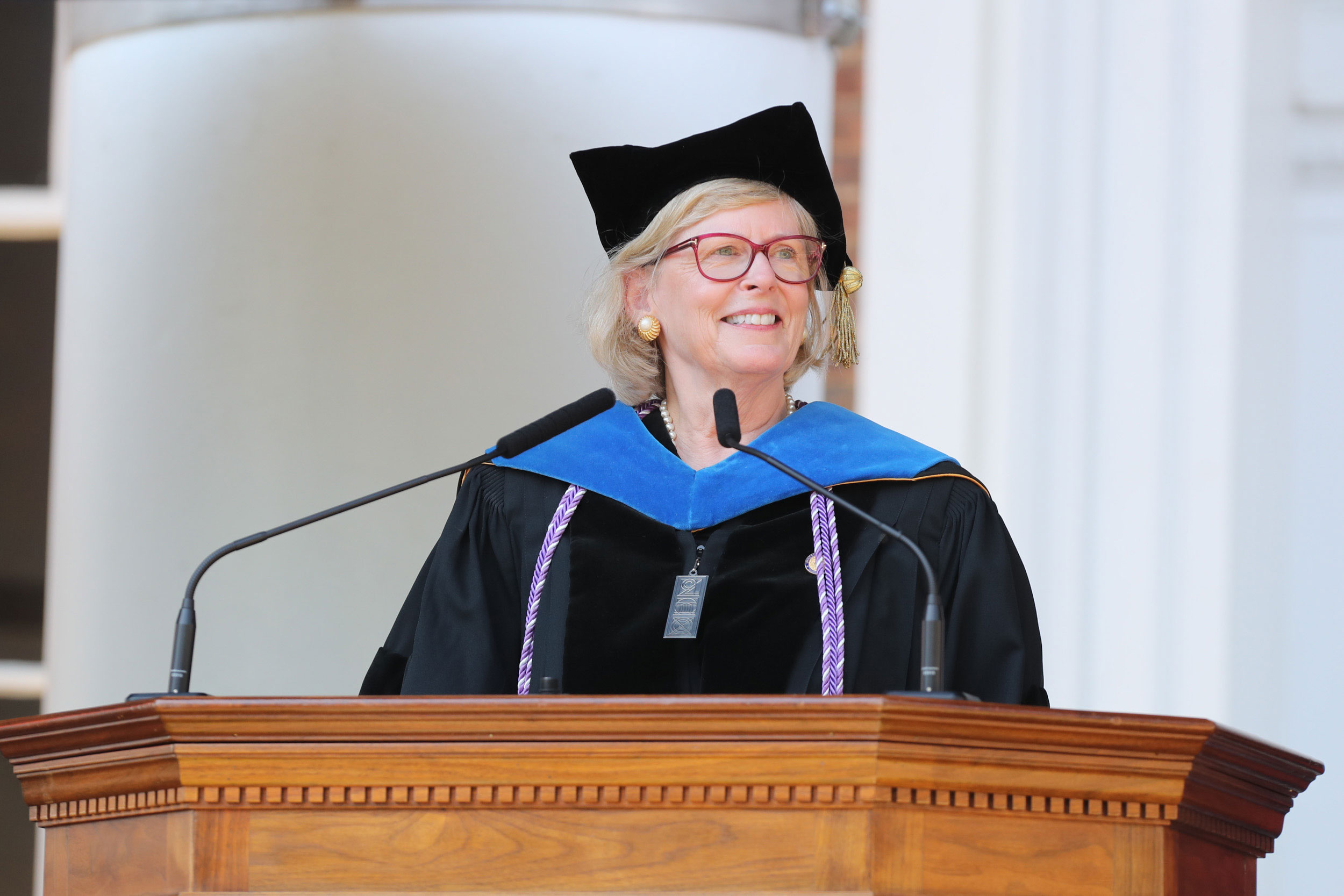 Fontaine addressed members of the Class of 2019 at Final Exercises on May 19.