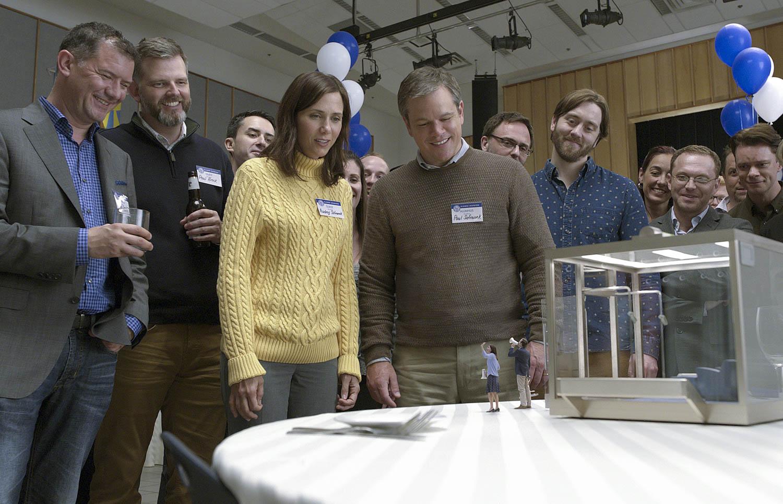 "Matt Damon and Kristen Wiig star in ""Downsizing."""